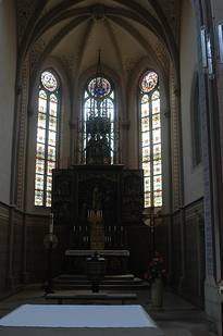 View of the choir loft in St. Josef