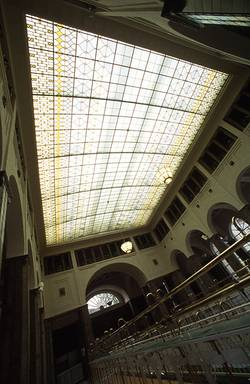 Glass ceiling in the lobby (Bad Kissingen)