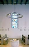Catholic parish church in Itzehoe:  halogen chandelier KR 94-4/H 1-50/12-12