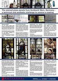 "Posterpräsentation auf dem Corpus Vitrearum Forum ""Stained Glass after 1920: Technology and Conservation"""