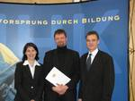 Presentation of the Master's Award granted by the Bavarian state government (presenter: the permanent state secretary Ms. Katja Hessel and CCI president Claus Bolza-Schünemann in March 2009